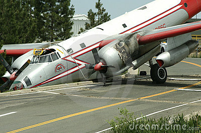 Plane Crash Editorial Photo