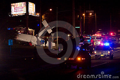 Plane Crash in Tallahassee, FL Editorial Photo
