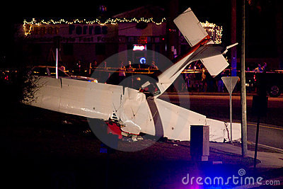 Plane Crash in Tallahassee, FL Editorial Stock Image