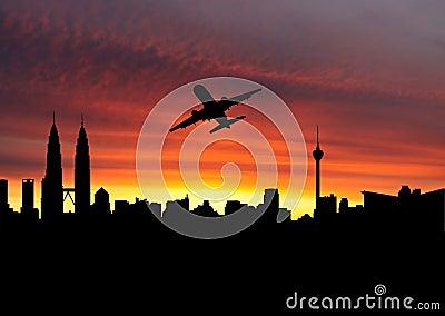 Plane departing Kuala Lumpur