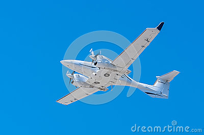 Plane In Flight Copy Space Stock Image - Image: 25773991