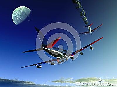 Plane Flying 10