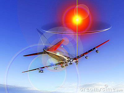 Plane Flying With UFO 63
