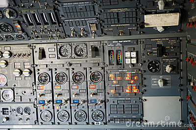 Plane instrument panel