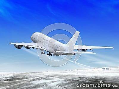 Plane is landing away