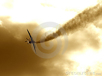 A plane making the smoke way