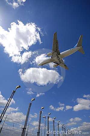 Free Plane Near Airport Stock Image - 2464401
