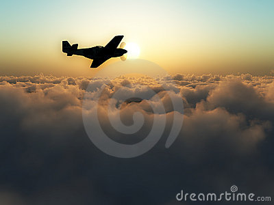 Plane Over The Clouds