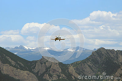 Plane over the Rocky Mountains