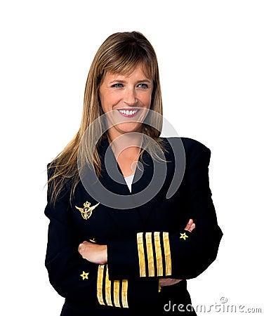 Plane pilot woman