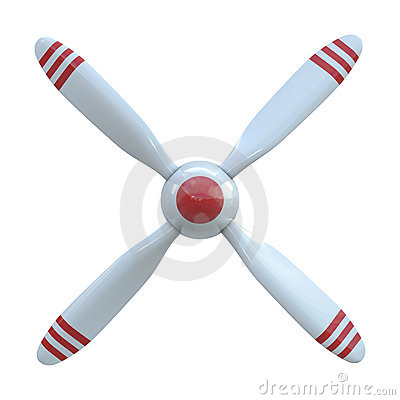 Plane propeller with 4 blade