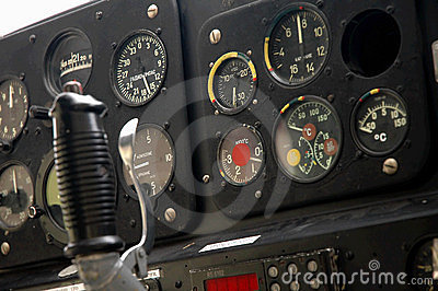 Plane s cockpit - closeup