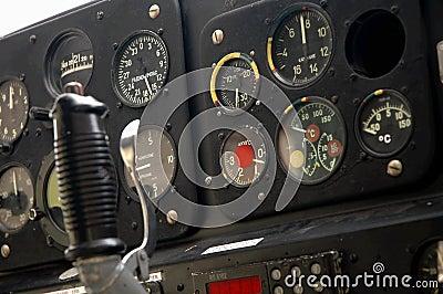 Plane s cockpit - closeup