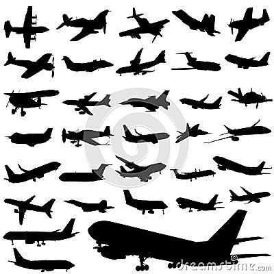 Free Plane Set Royalty Free Stock Photography - 6690907
