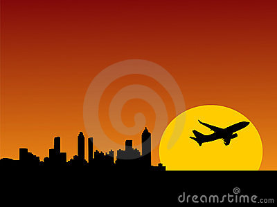Plane taking off from Atlanta