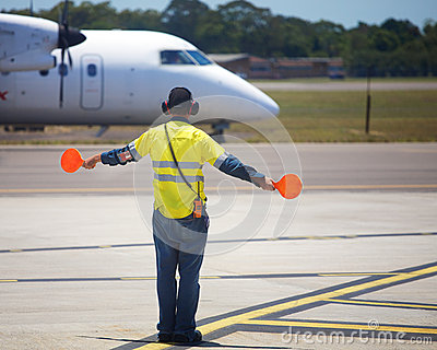 Plane taxiing Editorial Image