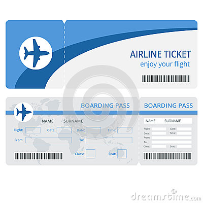 Free Plane Ticket Design. Plane Ticket Vector. Blank Plane Tickets Isolated. Blank Plane Tickets EPS. Plane Ticket Vector Stock Photos - 68327813