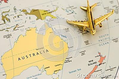 Plane Traveling Over Australia
