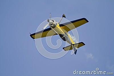 Plane upside down