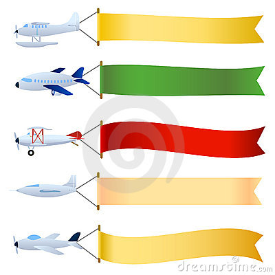Free Plane With Blank Set Stock Photo - 7493510