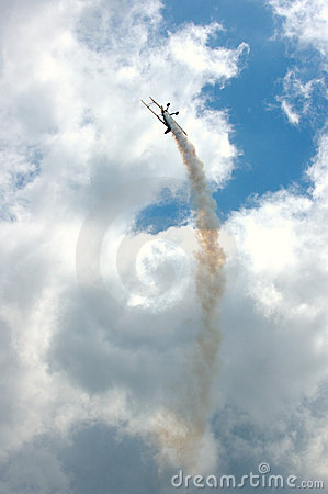 Free Plane With Smoke Trail Stock Photo - 193830