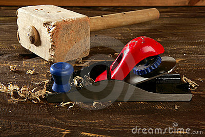 Planer carpenter hand tool wood shaving