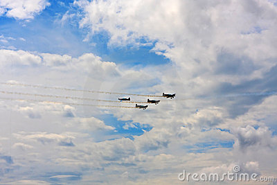 Planes flying overhead