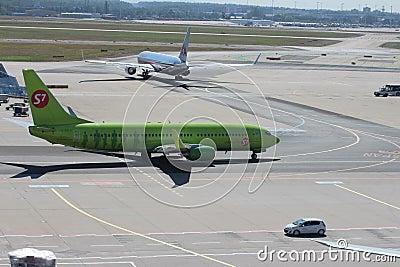 Planes at Frankfurt Airport Editorial Image
