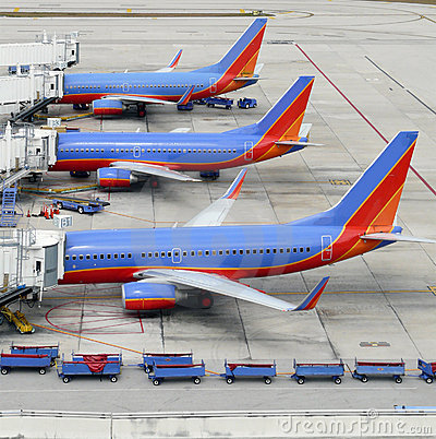 Planes at gate