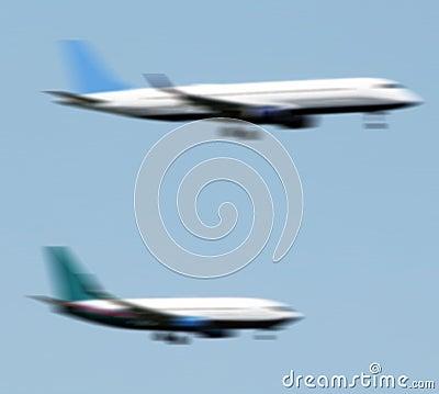 Planes landing