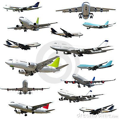Free Planes On White Background Stock Image - 4186391