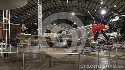 Planes at the USAF Museum, Dayton, Ohio Editorial Stock Photo