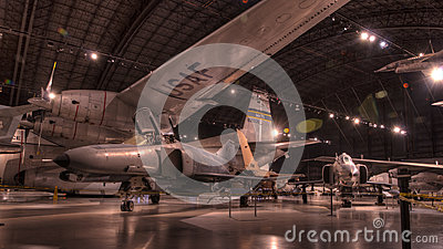 Planes at the USAF Museum, Dayton, Ohio Editorial Stock Image