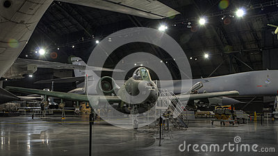 Planes at the USAF Museum, Dayton, Ohio Editorial Photo