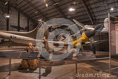 Planes at the USAF Museum, Dayton, Ohio Editorial Image