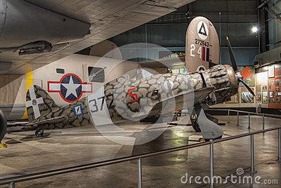 Planes at the USAF Museum, Dayton, Ohio Editorial Photography