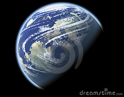Planet with climate