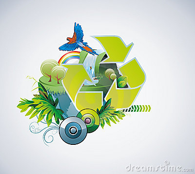 Planet conservation illustration vector