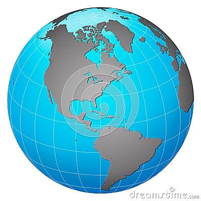 Planet earth – America centric
