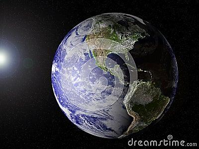 Planet Earth (America view)