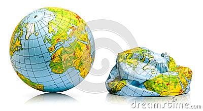 Planet earth balloon