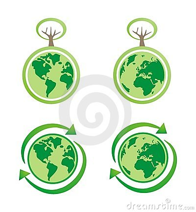 Planet earth eco isolated icons