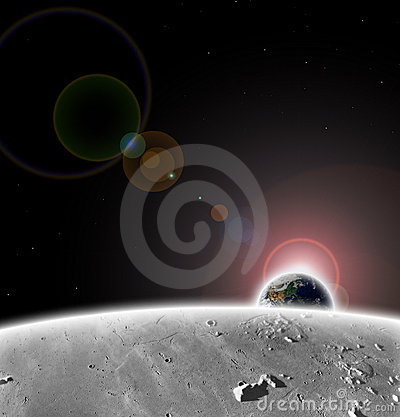 Free PLANET EARTH FROM THE MOON Royalty Free Stock Image - 6998956