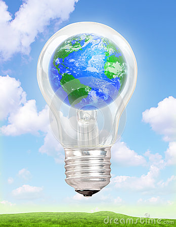 Free Planet Earth In A Light Bulb Royalty Free Stock Photo - 27337775