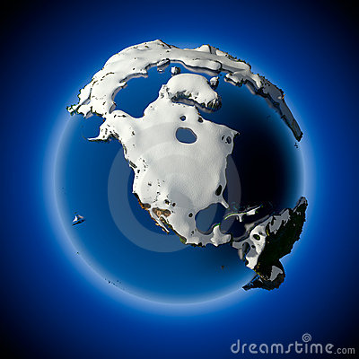 Free Planet Earth Is Covered By Snow Stock Photos - 17436193