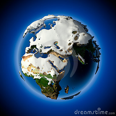 Free Planet Earth Is Covered By Snow Stock Photography - 17436212