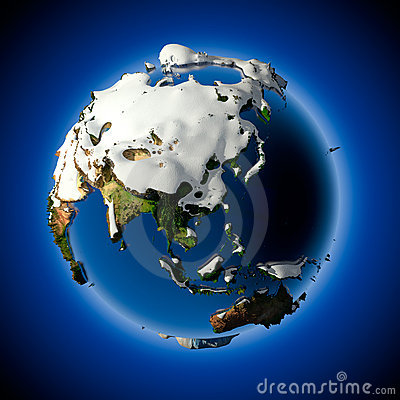 Free Planet Earth Is Covered By Snow Royalty Free Stock Photos - 17436228