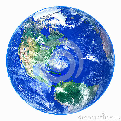 realistic planet earth Stock Photo