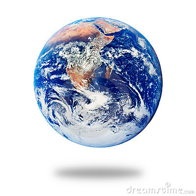 Planet Earth isolated on white