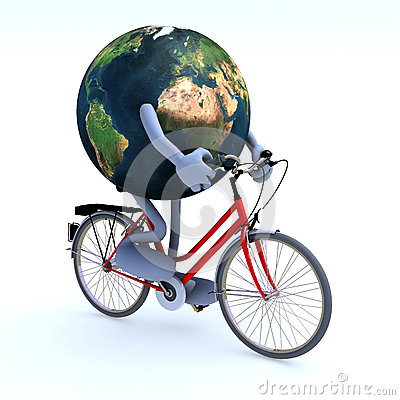 Free Planet Earth Riding A Bycicle Stock Photos - 28230413